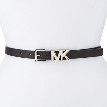 Picture of MICHAEL Michael Kors Saffiano Logo Buckle Belt - Black