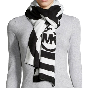 Picture of MICHAEL Michael Kors Chevron Stripe Logo Scarf