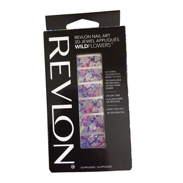 Picture of Revlon Nail Art 3D Jewel Appliques WildFlowers - Psychedelic