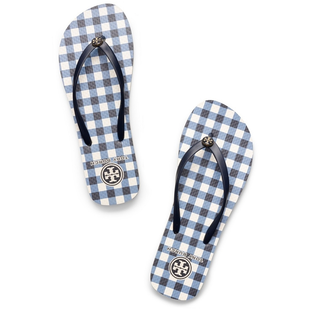 0ae13e54ef48 Picture of Tory Burch Thin Flip Flop - Tory Navy