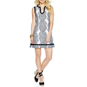 Picture of C. Wonder Silk Cotton Voile Paisley Print Shift Dress