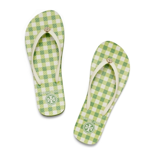 Picture of Tory Burch Thin Flip Flop - Ivory Window