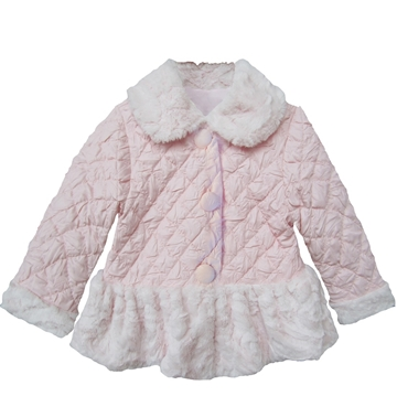 Picture of Isobella & Chloe Wonderland Pink Quilt Detail Coat