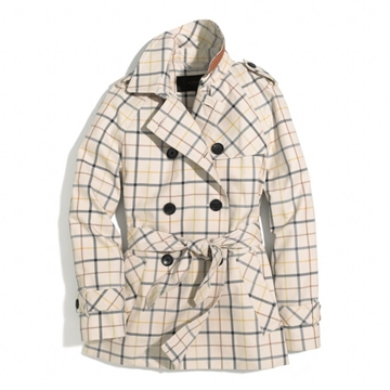Picture of COACH Tattersall Short Trench Coat