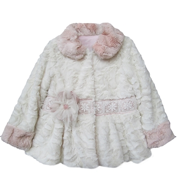 Picture of Isobella & Chloe Caitlyn Pink and Ivory Coat
