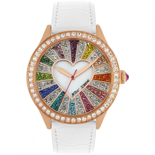 Picture of Betsey Johnson Watch - Heart enclosed in Spinwheel