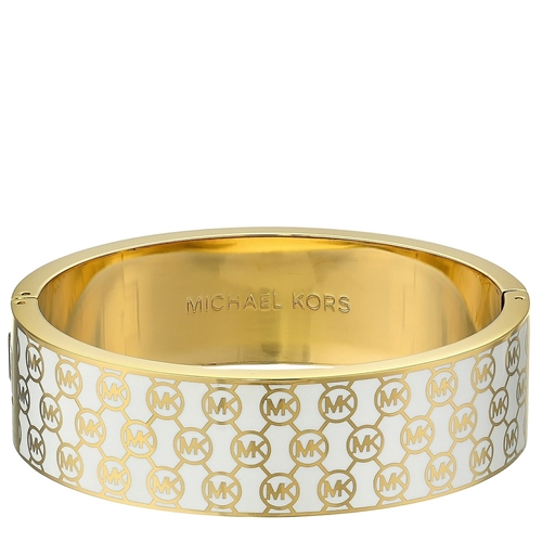 Picture of Michael Kors Collection Heritage Monogram Hinge Bangle