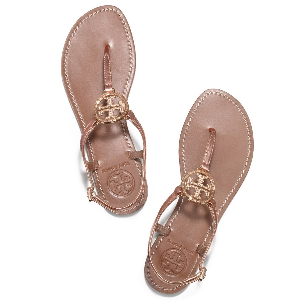 e68d9b4fa3e5 Picture of Tory Burch Violet Metallic Thong Sandal