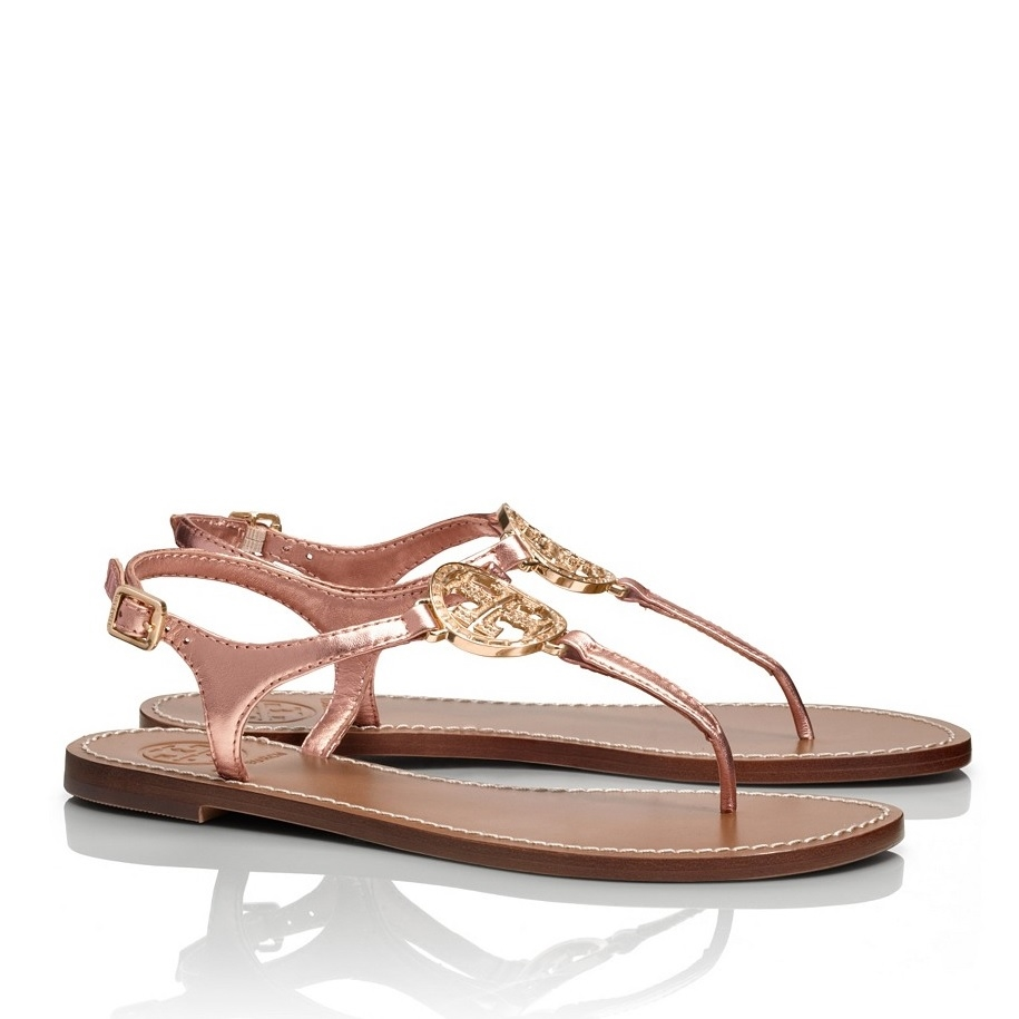 3410c1cba99 ... Picture of Tory Burch Violet Metallic Thong Sandal ...