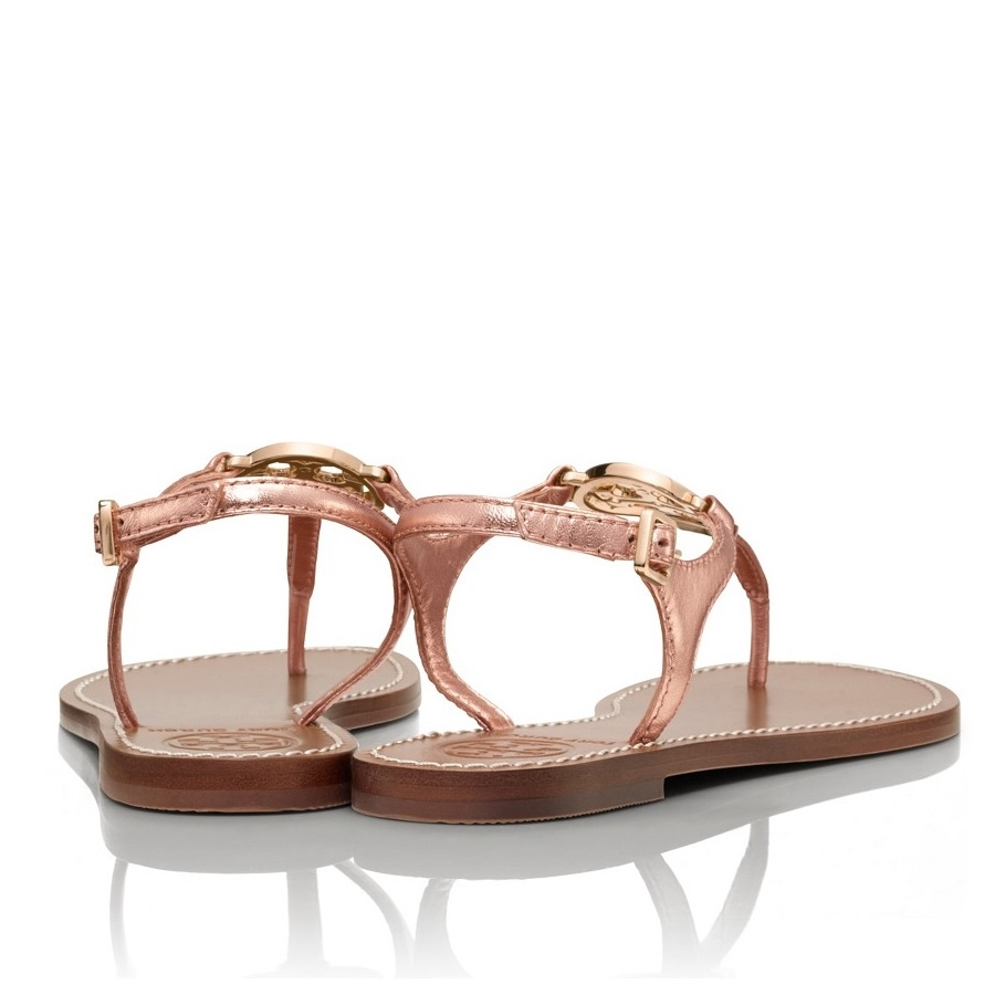 4ea2565f3beb ... Picture of Tory Burch Violet Metallic Thong Sandal ...