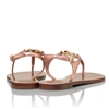 Picture of Tory Burch Violet Metallic Thong Sandal