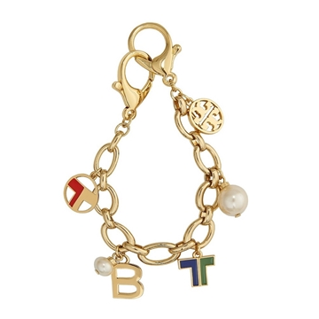 Picture of Tory Burch Theresa Multi Charm Key Fob