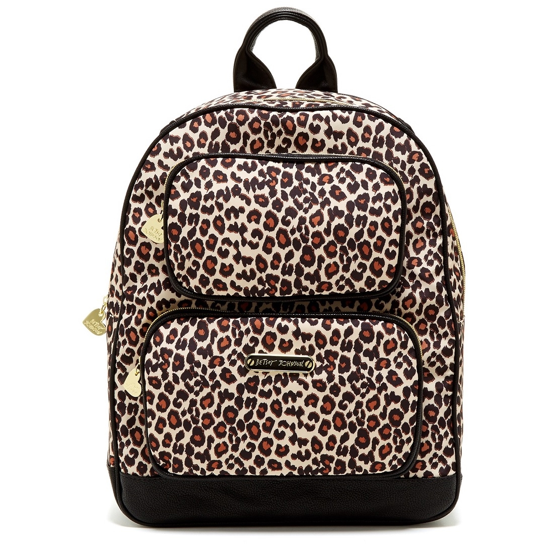 Super Cute Black And Cheetah Backpack. Has A Slot For Laptop, 2 Slots For Water Bottles. Great Condition. Tons Of Life Left.