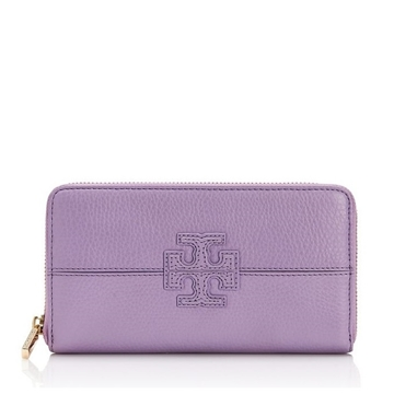 Picture of Tory Burch Stacked T Zip Continental Wallet