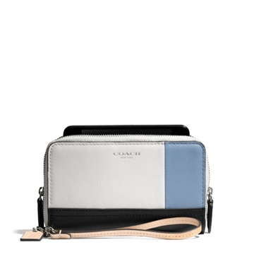 Picture of COACH Bleecker Colorblock Leather Double Zip Phone Wallet