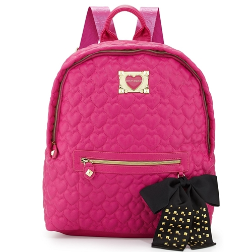 Picture of Betsey Johnson Heart Quilted Backpack