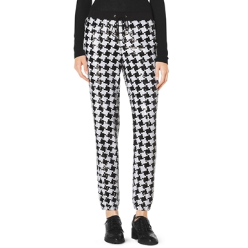Picture of MICHAEL Michael Kors Sequined Houndstooth Jogging Pants