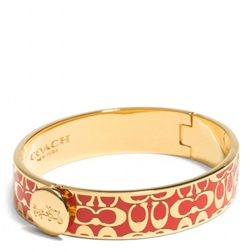Picture of COACH Hinged Legacy Signature Bangle