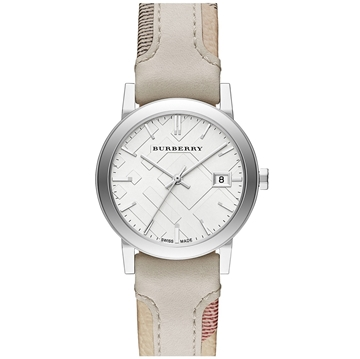 Picture of Burberry Check Stamped Watch, 34mm