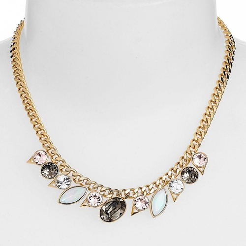 Picture of Givenchy Crystal Frontal Necklace - Greige