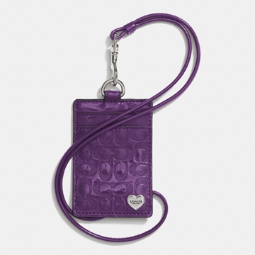 Picture of COACH Perforated Embossed Liquid Gloss Lanyard Id Case