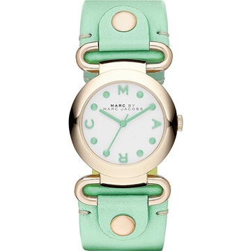 Picture of Marc by Marc Jacobs Women's Molly Minty Leather Strap Watch