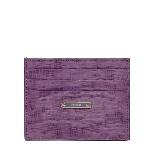 Picture of Fendi Crayons Lilac Leather Card Case