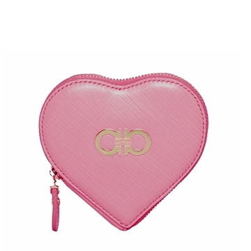 Picture of Salvatore Ferragamo Gancini Icona Heart Coin Purse