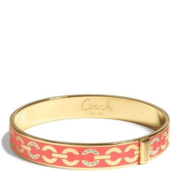 Picture of COACH Thin Op Art Pave Bangle