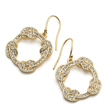 Picture of COACH Pave Circle Knot Earrings