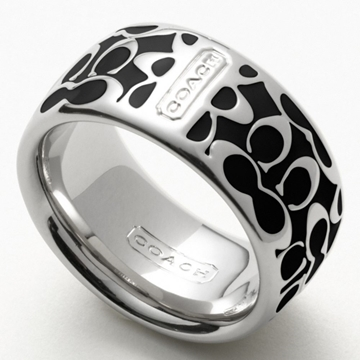 Picture of COACH Miranda Enamel Signature Ring - Silver