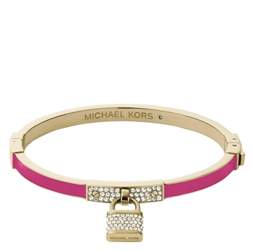 Picture of Michael Kors Motif Brilliance Golden Crystal Padlock Bangle
