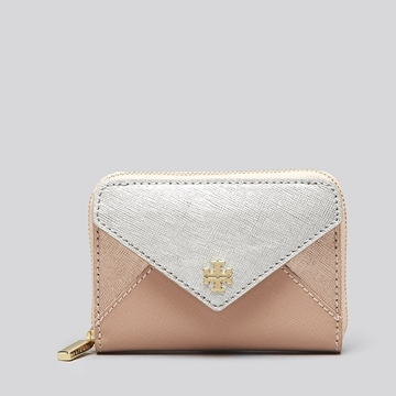 Picture of Tory Burch Metallic Color-block Zip Coin Case