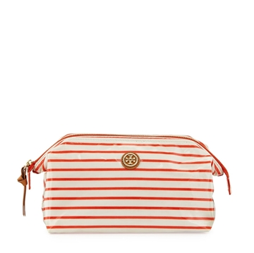 Picture of Tory Burch Large Molded Striped Cosmetic Case