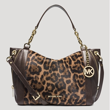 Picture of MICHAEL Michael Kors Satchel - Large Stanthorpe Leopard Haircalf