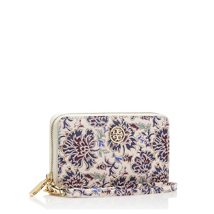 05e23bf88389 ... Picture of Tory Burch Robinson Printed Smartphone Wristlet Voyage  Floral ...