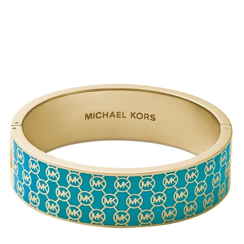 Picture of Michael Kors Collection Heritage Monogram Hinge Bangle - Turquoise