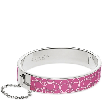 Picture of COACH Signature C Metal Enamel Chain Hinged Bangle