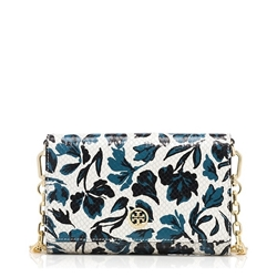 Picture of Tory Burch Robinson Floral Chain Wallet Crossbody
