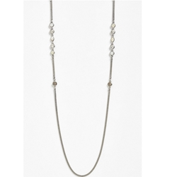 Picture of Givenchy Stone Station Necklace - Silver