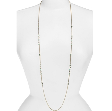 Picture of Givenchy Stone Station Necklace - Gold