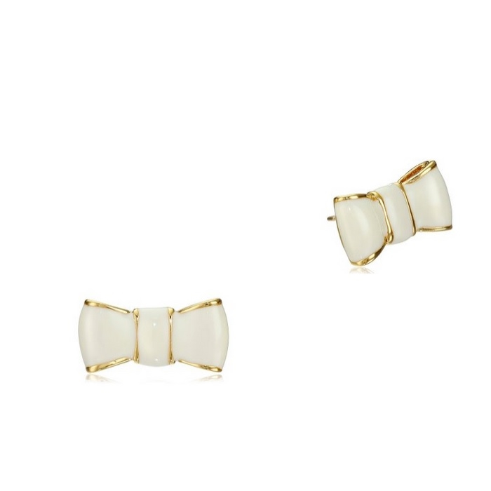 Picture Of Kate Spade New York Take A Bow Earrings Cream