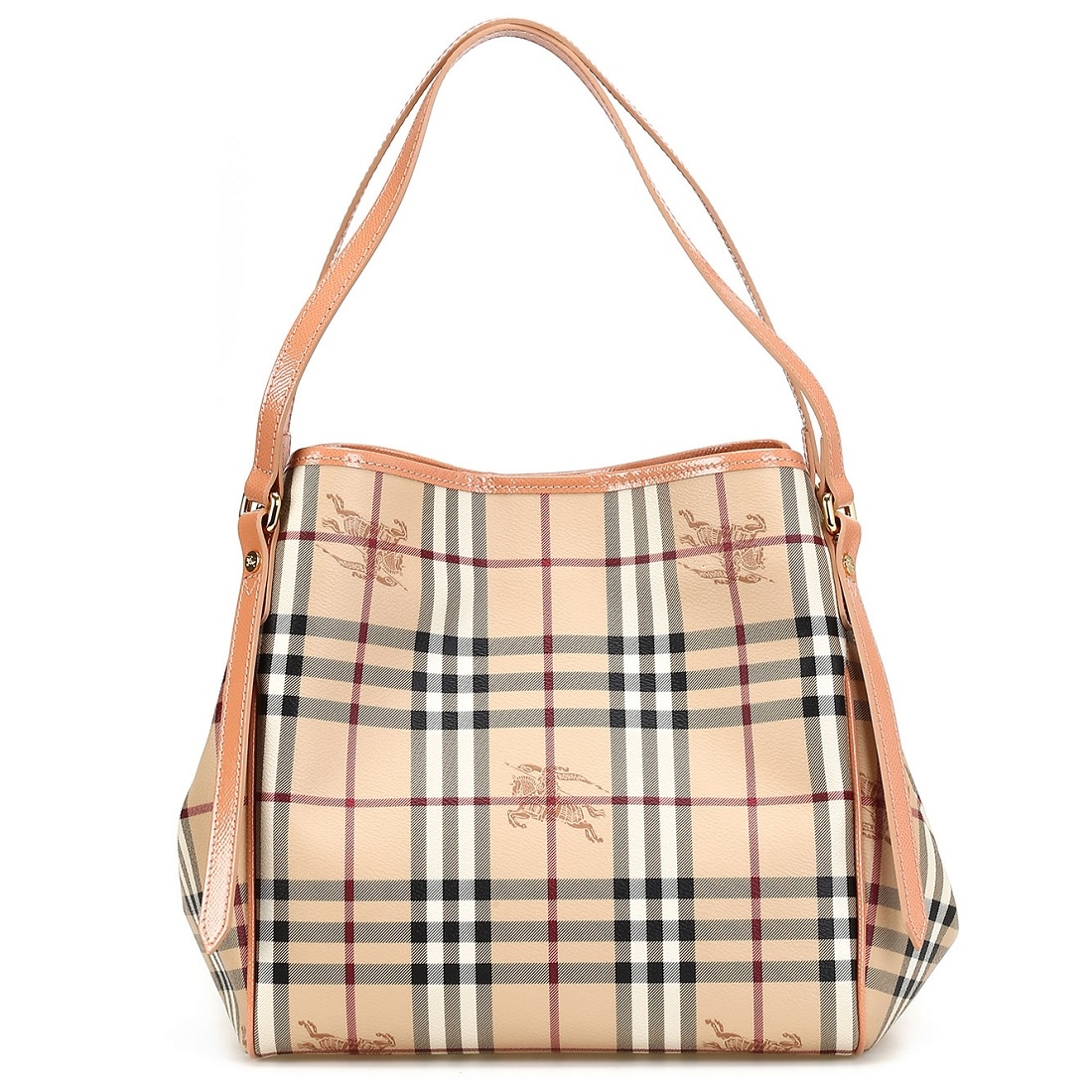 Picture of Burberry Haymarket Patent Colors Small Canterbury Tote e3195f6612532