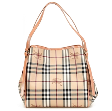 Picture of Burberry Haymarket Patent Colors Small Canterbury Tote