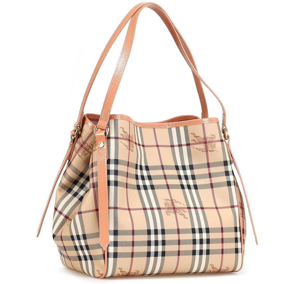 ... Picture of Burberry Haymarket Patent Colors Small Canterbury Tote ... 649dc43859f37
