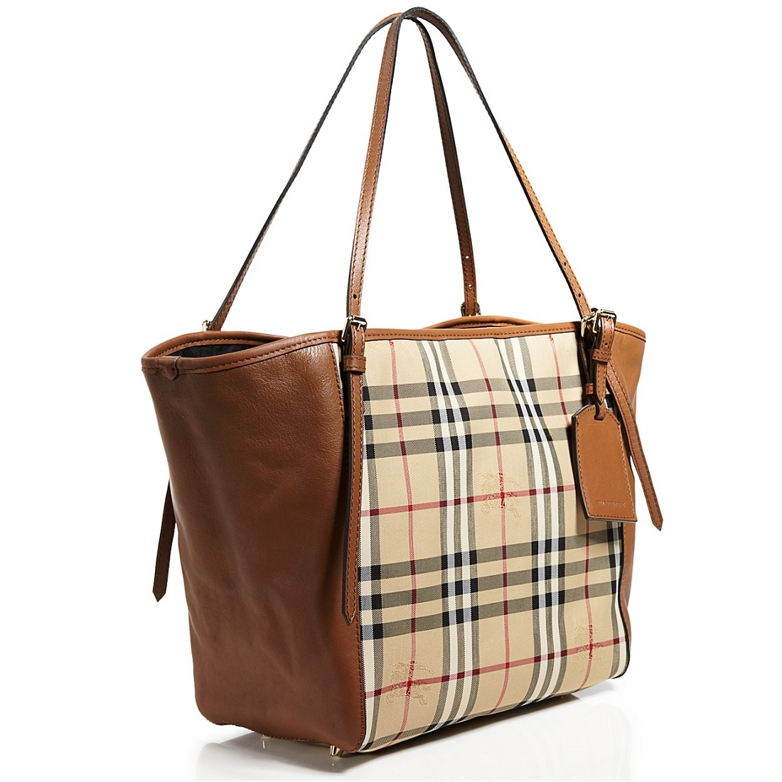 e31a5f44d117 ... Picture of Burberry Horseferry Check Small Canterbury Panels Tote. Home     Handbags ...