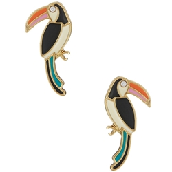 Picture of kate spade new york 'for the birds' toucan stud earrings