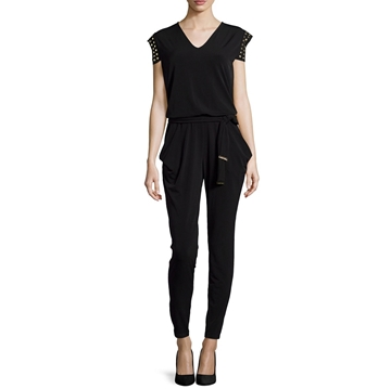 Picture of MICHAEL Michael Kors Stud Trim Belted Jumpsuit