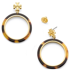 Picture of Tory Burch Logo Resin Hoop