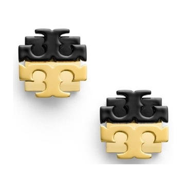 Picture of Tory Burch Dipped Logo Studded Earrings